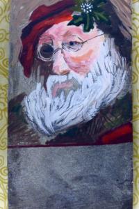 Vintage Postcard: Wise Santa